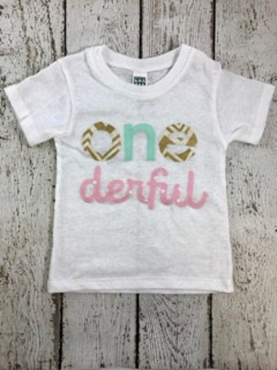 Onederful Shirt Party One Decor Girls Birthday
