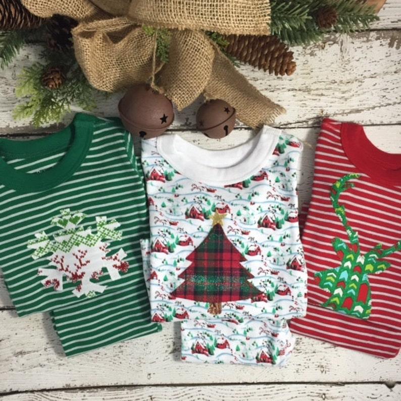 6ce95a3a77a0 Holiday Pajamas Boys and Girls Christmas pj striped organic