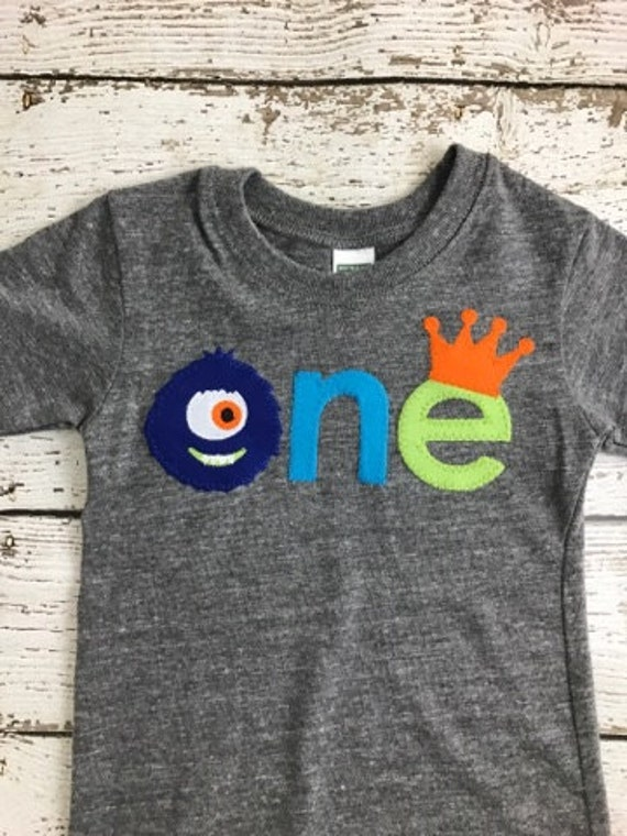 53fbe74c Baby Toddler Little Monster Shirt, Boys 1st Birthday Shirt, 1st Birthday  Outfit, Kids Applique Shirt Personalized, Organic Boys Tee