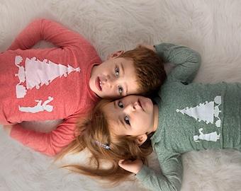 Christmas Pajamas, Holiday Pajamas, Christmas pj for girl, Boy's Christmas pajama, pajama set, Children's Christmas pajama, kid's pajama