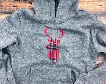 Children's sweatshirt, Plaid, Christmas plaid shirt, Christmas shirt, Children's Christmas outfit, vintage, kid's hoodie