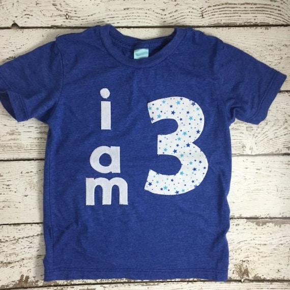 Childrens Birthday Shirt Star Party I AM 1 2 3