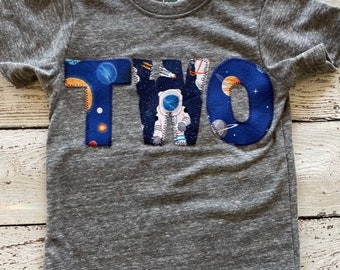 Two Infinity And Beyond Space Party Shirt, Two The Moon Toddler Space Shirt, Space Theme Birthday, Outer Space Solar System Galaxy Party