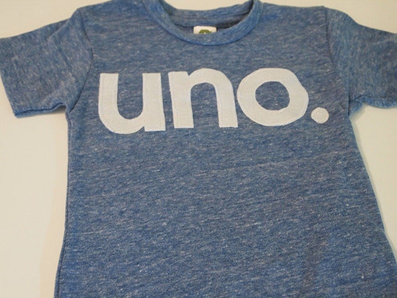 Uno Birthday Tee Organic Shirt Kids