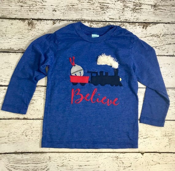 2cc526fad Polar express shirt, Train shirt, Christmas train, Christmas train outfit,  Holiday outfit, Boys train shirt, train outfit, train tee
