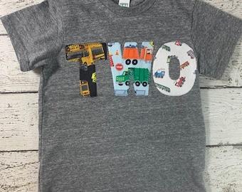 Transportation Birthday Shirt, Transportation Party, buses trucks trains, Automobile party boys birthday shirt transportation shirt