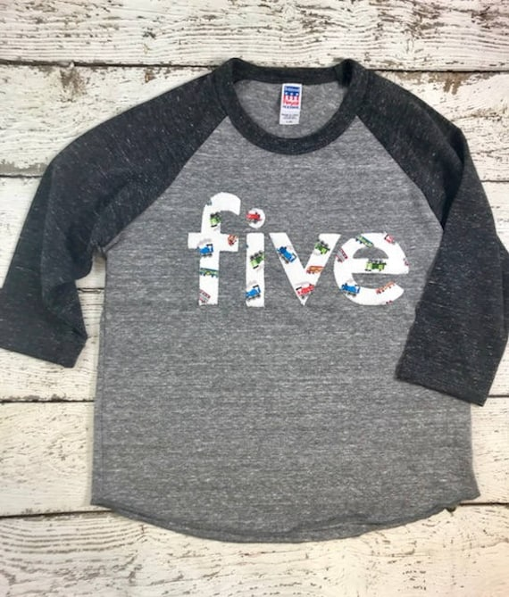 Train Birthday Outfit Shirt For Boys Vintage Party Steam Raglan