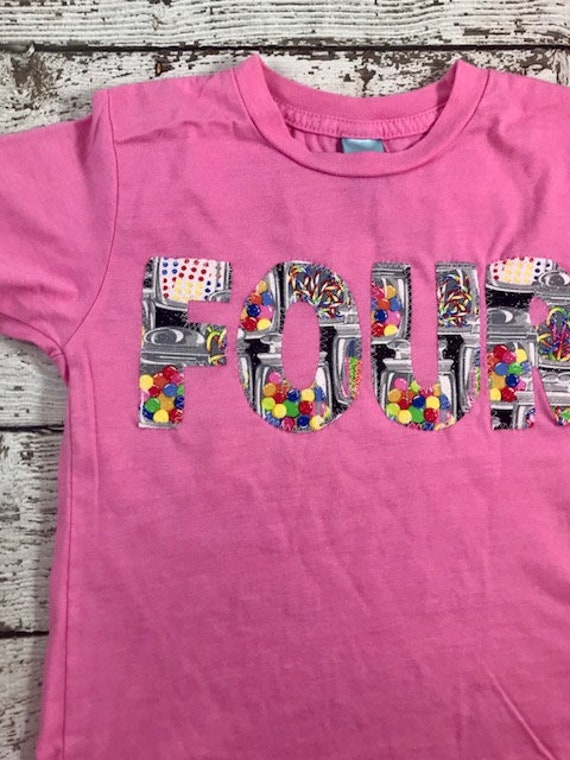 Candy Birthday Shirt Party Outfit Two Sweet Kids Tee Custom