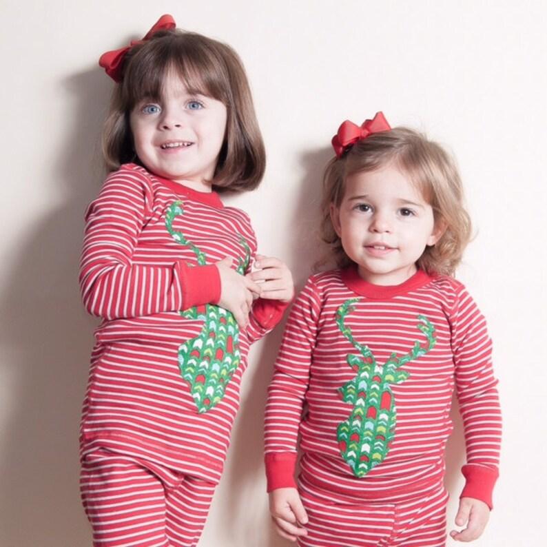 eca52b89a966 Children s Christmas PJs Boys and Girls striped pajama set