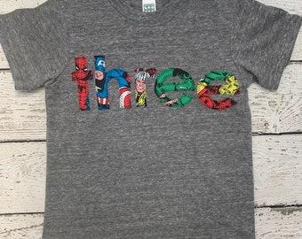 Superhero birthday shirt, superhero shirt, superhero party, superhero tshirt, boys birthday shirt, birthday shirt for boys, any birthday