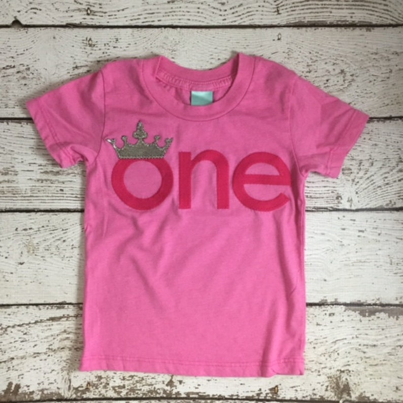 Crown 1st Birthday Outfit Princess First Shirt