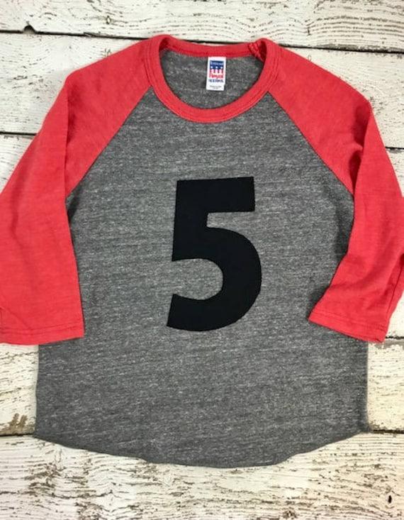 Raglan Birthday Shirt Birthday Number Number Shirt Childrens