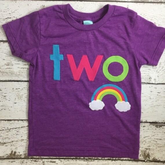 Rainbow Birthday Shirt Personalized Girls Rainbow Shirt Girls