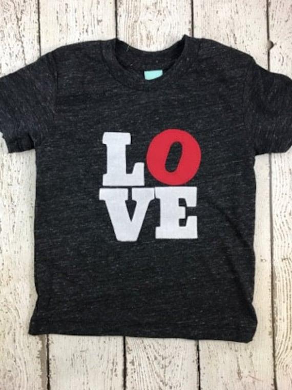 Love Shirt Kids Too Valentine S Day Shirt Organic Tee Modern Design
