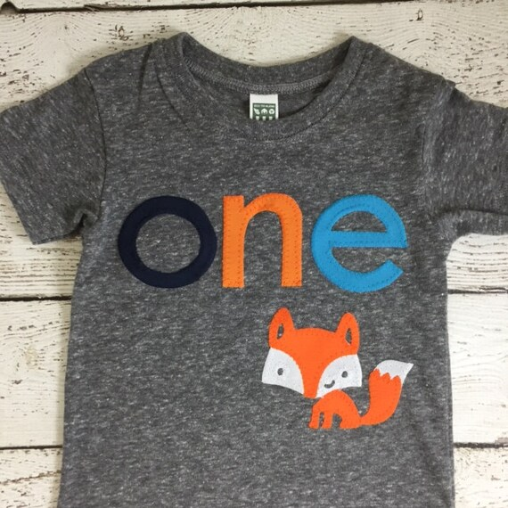 Woodland Birthday Shirt Invite Fox Themed