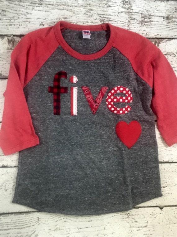 Heart Shirt Heart Birthday Shirt Kids Valentine S Day Shirt Heart