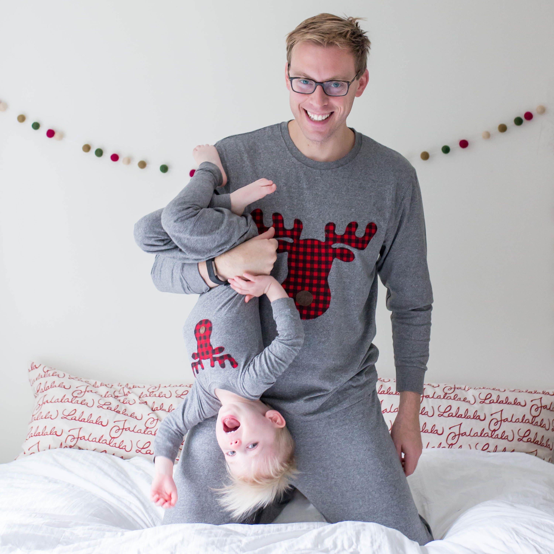 Family Christmas Pajamas Buffalo Plaid Moose Pajamas for  0b58223cc