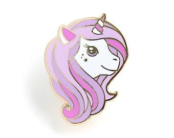 Purple Unicorn Enamel Pin - Hard Enamel Pin Cloisonné Unicorn Lapel Pin Pink Unicorn Pin Badge Unicorn Kawaii Pin Magical Unicorn Brooch