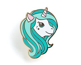 Mint Unicorn Enamel Pin - Hard Enamel Pin Cloisonné Unicorn Lapel Pin Aqua Unicorn Pin Badge Unicorn Kawaii Pin Magical Unicorn Brooch