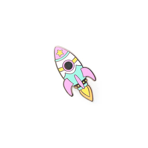 Nasa Retro Rocket Enamel Pin