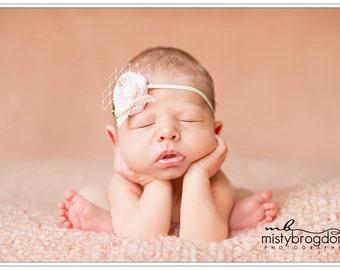 Newborn headband/Newborn photo prop/ Baby headband/ Flower headband