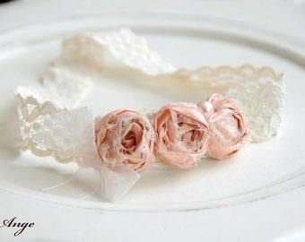 Newborn Headband/ Newborn prop/ Silk rosette headband/ Baby headband/ Baby photo prop/ Eco headband/ Newborn silk headband