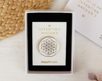 Boho Enamel Pin to Manifest Your Intention