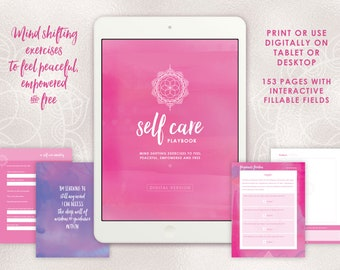 Printable Self Care Journal for Mindfulness and Self Love - Fillable on screen or print off!