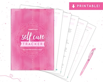90 Day Self Care Tracker | Printable PDF | Download | Self Care Inspiration | Self Love | Me Time | Mental Health | Affirmations