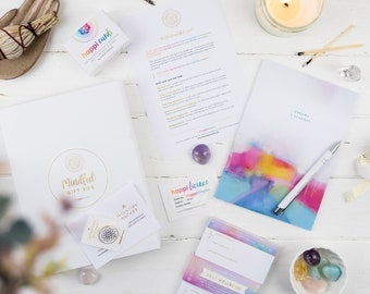 Mindful gift pack | Inspiring gift set | journal | affirmation cards | self care gift | happiness gift | mindfulness gift | positive gift |