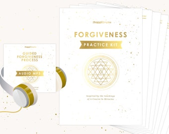 Forgiveness Practice Kit inspired by A Course In Miracles | Printable | Worksheet | Guided Meditation | Tracker | Examples | Miracle Cards