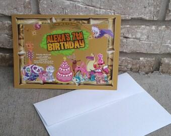 Animal Jam Birthday Invitation
