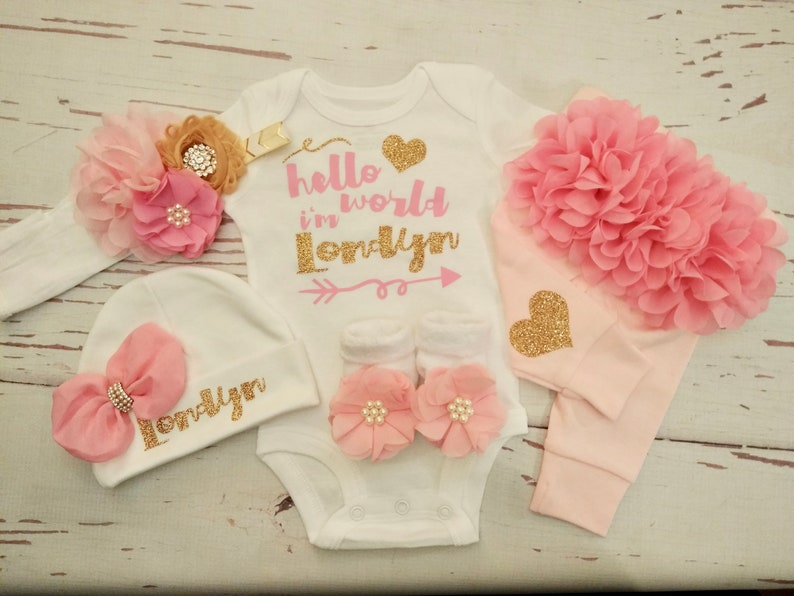 cbdbdc656121 Baby girl coming home outfit take home outfit newborn baby