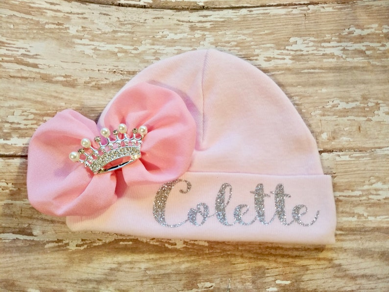 hat with name baby beanie baby girls hat personalized newborn hat cap hospital hat Newborn girl coming home outfit custom infant