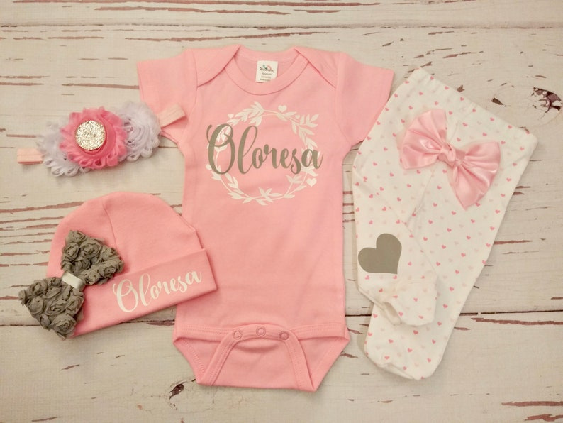 10186fdc0 Hello world Baby Girl coming home outfit clothes newborn   Etsy