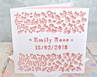 Naming ceremony card etsy m4hsunfo