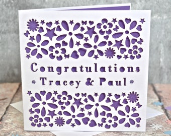 Engagement Wedding Congratulations Personalised Card