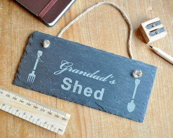 Personalised Shed Slate Sign