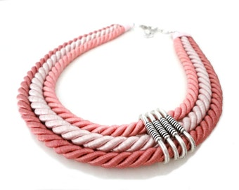 Pastel Rope Statement Necklace