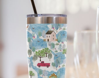 Fluffy Layers Country Roads Travel Mug 20oz