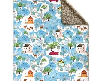 Fluffy Layers Country Lovin' Fleece Sherpa Blankets (Copy)