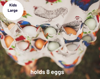 Kids Egg Gathering Apron® and Kids Egg Collecting Apron® (LARGE)  Made by Fluffy Layers® is the Perfect Accessory for Spring Farming