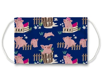 Fluffy Layers Face Mask/ Covering Kids & Adults — See the Adorable Animal and Farm Themed Designs. Mask with pigs, Masks with Farm Animals