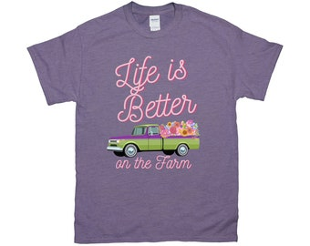 "Fluffy Layers ""Life is better on the Farm ( green truck)"" Women's T-Shirt"