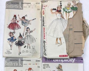 Vintage ballet tutu recital costume patterns girls