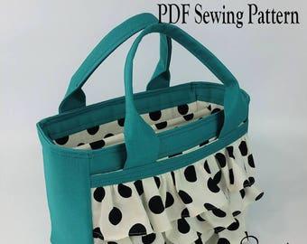 Sweet Sunday Bag by Toriska, PDF sewing pattern, scripture bag pattern, downloadable digital file, digital purse pattern, DIY purse