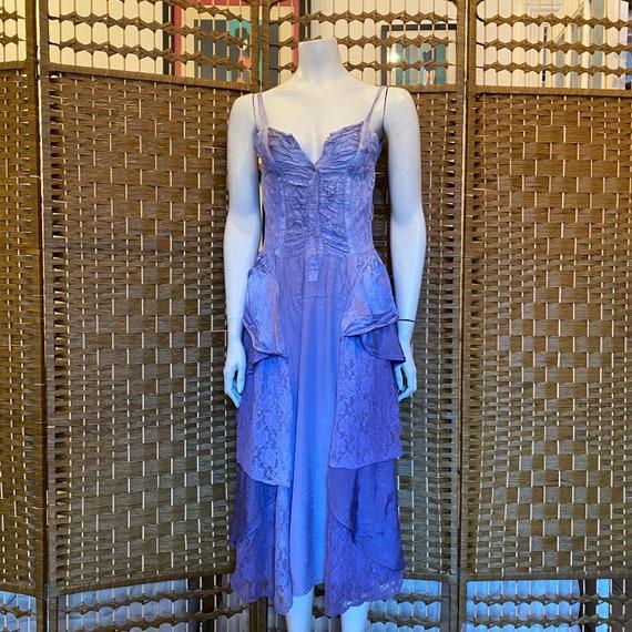 Vintage 80s Ayesha Davar lilac purple dip dye hipp