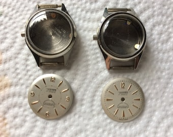 Tressa watch dials and cases to build or use for crafts
