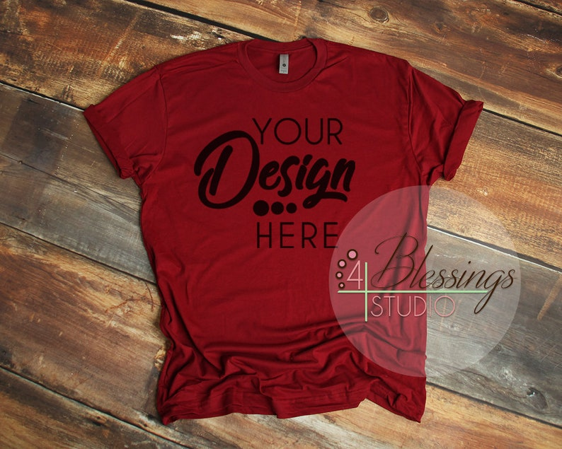 de72ac67 Cardinal T Shirt Next Level Mockup 3600 Scarlet Red Unisex   Etsy