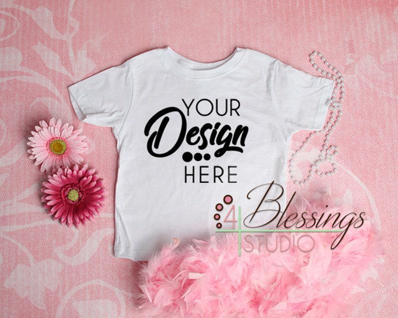 34f6cee0ff86f Blank White Girls T Shirt Mockup Girls Shirt Mock up Blank Toddler Mockup  Baby Shirt Flat Lay Pink Background Girls Shirt Mockup Toddler